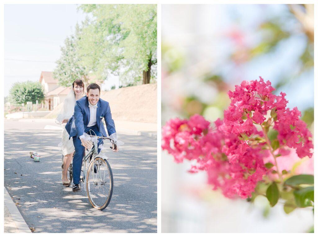 Arrivée en vélo tandem
