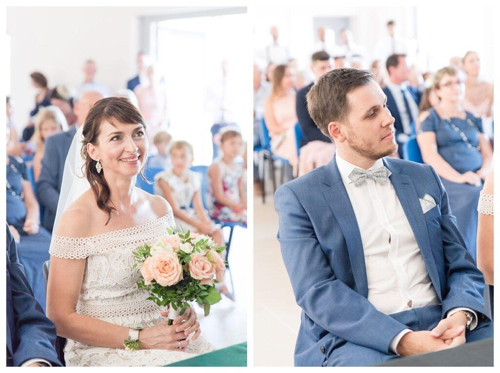 Les mariés en Mairie