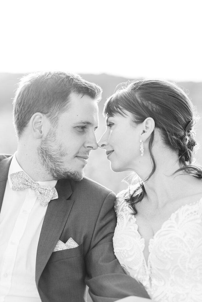 Photographe mariage noir blanc