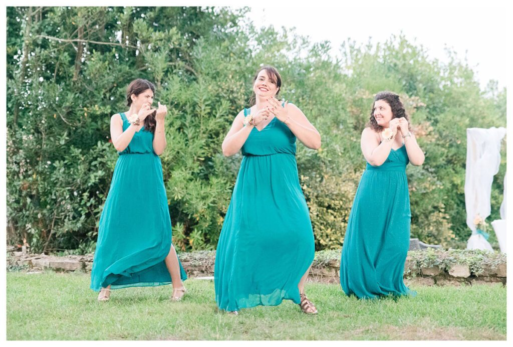 demoiselles d'honneur turquoise