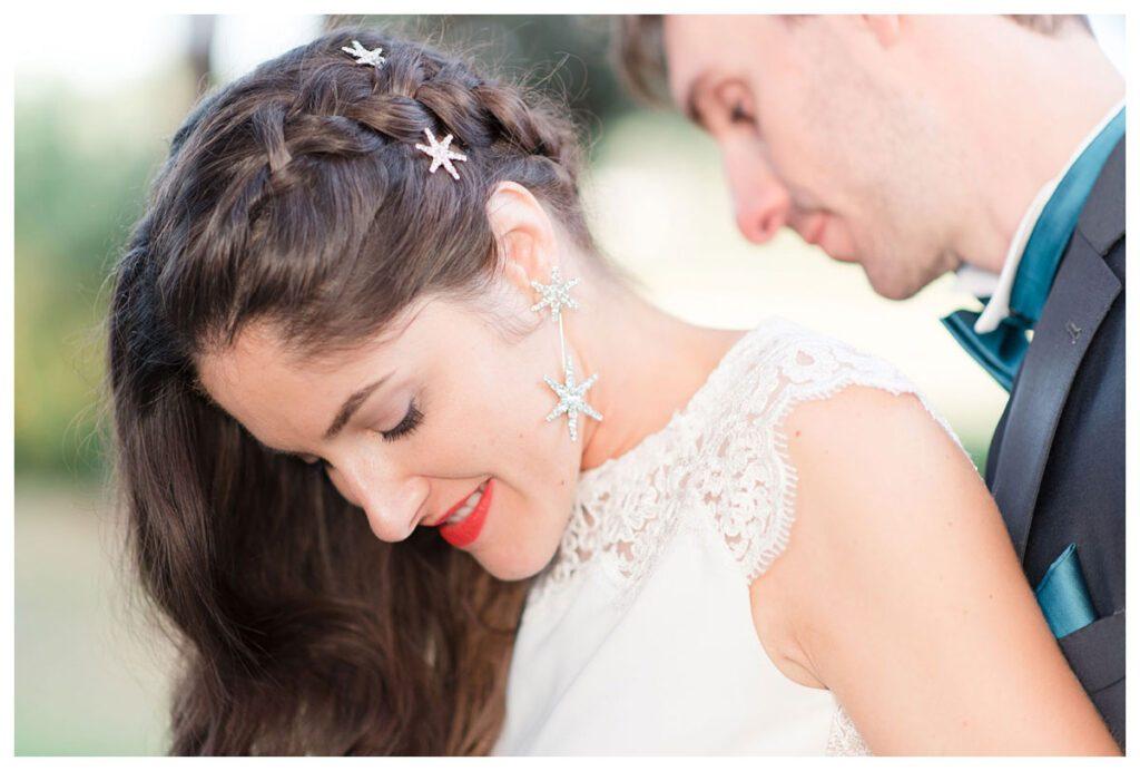 boucles d'oreille mariée