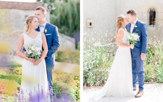 Photo de couple de jeunes mariés